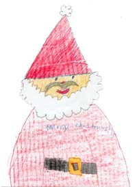 child santa claus drawing