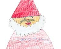 santa claus child drawing