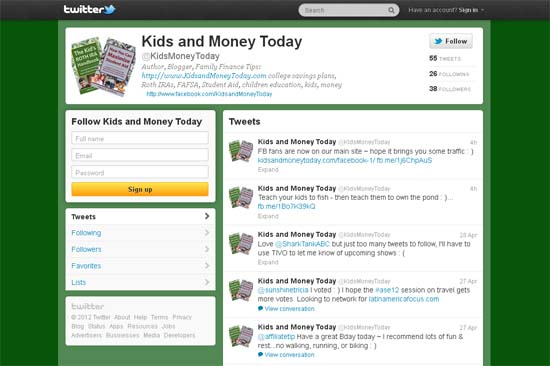 Kids and Money Today on Twitter